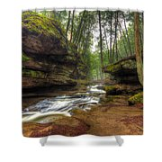 Old Man's Cave Shower Curtain