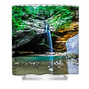 Old Mans Cave Lower Falls Shower Curtain