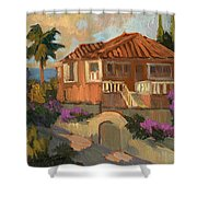 Old Mansion Costa Del Sol Shower Curtain