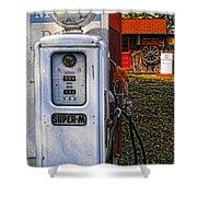 Old Marathon Gas Pump Shower Curtain