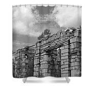 Old Marble Mill Shower Curtain