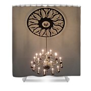 Old Meeting House Chandelier Shower Curtain