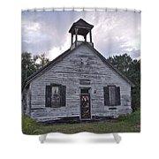 Old Michigan School Shower Curtain