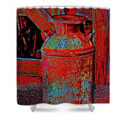 Old Milk Pail Pop Art Shower Curtain