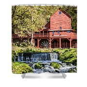 Old Mill And Waterfall Shower Curtain