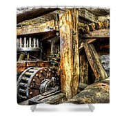 Old Mill Cogs Shower Curtain