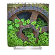 Old Mill Of Guiford Grinding Gear Shower Curtain
