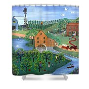 Old Mill Stream Shower Curtain