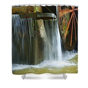 Old Mill Water Wheel Shower Curtain