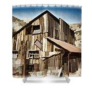 Old Mine Shack Shower Curtain