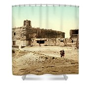 Old Mission Church At Acoma Shower Curtain