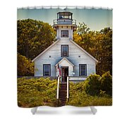 Old Mission Point Light House 02 Shower Curtain