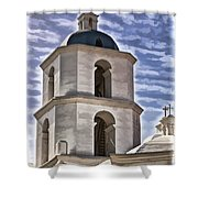 Old Mission San Luis Rey Tower - California Shower Curtain