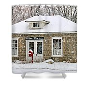 Old Monclova Post Office 6998 Shower Curtain
