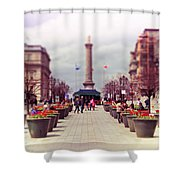 Old Montreal. Shower Curtain