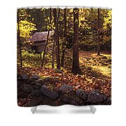 Old Mountain Shed Shower Curtain by Paul W Faust -  Impressions of Light