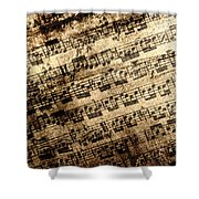 Old Music Shower Curtain