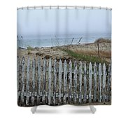 Old Nantucket Fence Shower Curtain