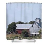 Old Nebraska Farm Shower Curtain