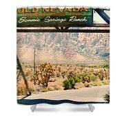 Old Nevada Entrance Shower Curtain