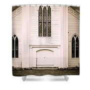 Old New England Gothic Church Shower Curtain