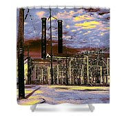 Old New Orleans Electric Plant Shower Curtain