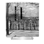 Old New Orleans Power Plant Shower Curtain