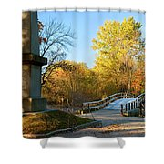 Old North Bridge Shower Curtain by Brian Jannsen