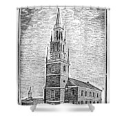 Old North Church, 1775 Shower Curtain