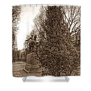 Old North Church And Paul Revere Shower Curtain by Joann Vitali