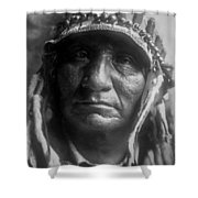 Old Oglala Man Circa 1907 Shower Curtain by Aged Pixel