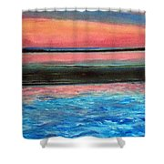 Old Orchard Beach Maine Snow Cover Shower Curtain