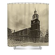 Old Otterbein Church Olde Tyme Photo Shower Curtain