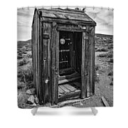 Old Outhouse Shower Curtain