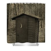 Old Outhouse Out Back Shower Curtain