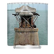 Old Overseas Hgwy Bridge 2 Shower Curtain