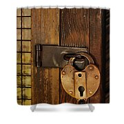 Old Padlock Shower Curtain