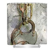 Old Padlock Shower Curtain
