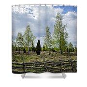 Old Pastureland Shower Curtain