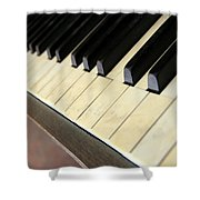 Old Piano Shower Curtain