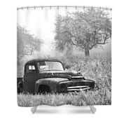 Old Pick Up Truck Shower Curtain
