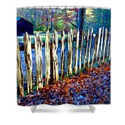 Old Picket Fence Greenbrier School Shower Curtain