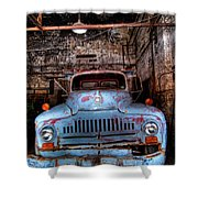 Old Pickup Truck Hdr Shower Curtain