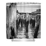 Old Pier In Provincetown Cape Cod Shower Curtain