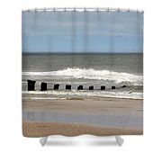 Old Pilings Shower Curtain