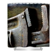 Old Pipe Wrench Shower Curtain