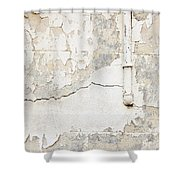 Old Pipes Background Shower Curtain