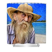 Old Pirate Bill Shower Curtain