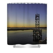 Old Pit Street Bridge To Ravenel Bridge Shower Curtain