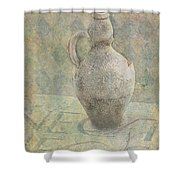 Old Pitcher Abstract Shower Curtain